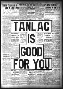 Short and direct, this pharmaceutical ad ran in the Atlanta Constitution newspaper in 1916. Image courtesy of Wikimedia Commons.