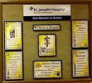 Bulletin Board at St. Joseph's Hospital in Tampa, FL