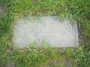 Mike's grave marker