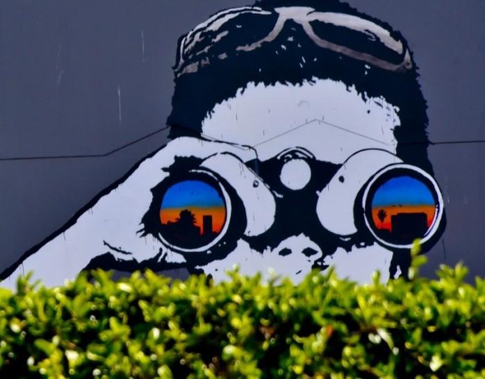 binoculars-kid-mural publicdomainpicturesdotnet