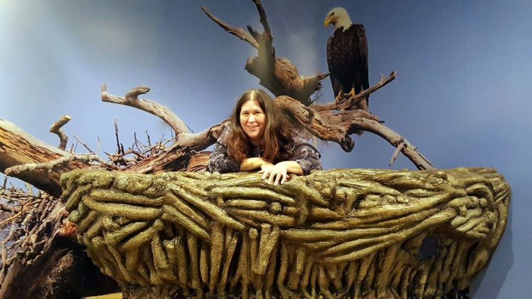 Kathy in Eagle's nest Osceola county museum 2.7.2016