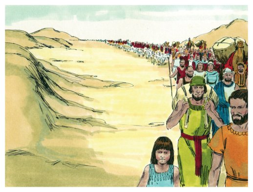 leaving Egypt illustration