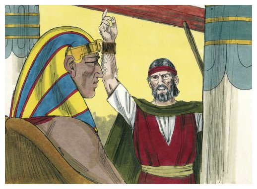 Pharoah and Moses illustratoin from wikimedia