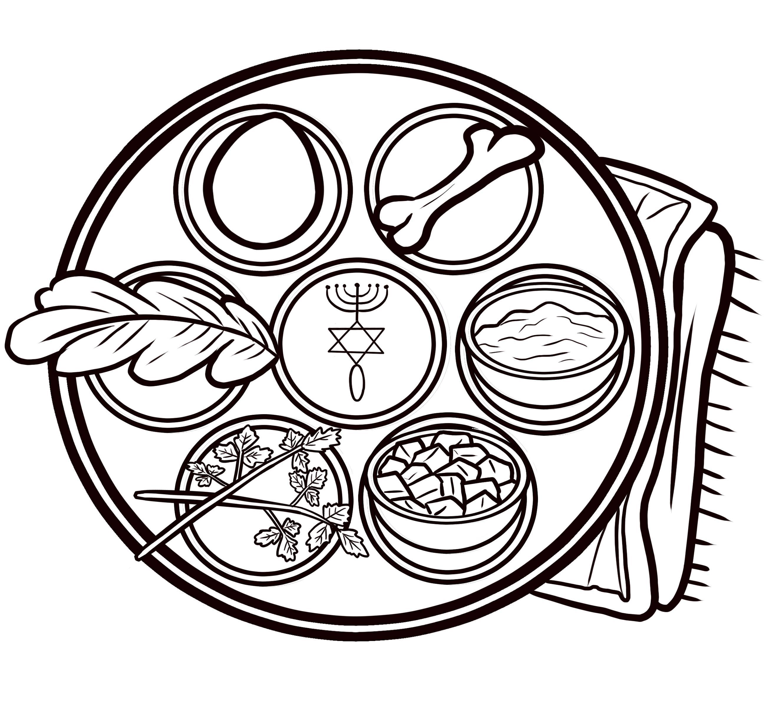 Color book Seder plate